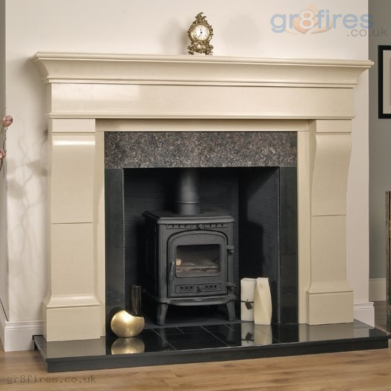 marble fire surrounds for wood burners photo - 1