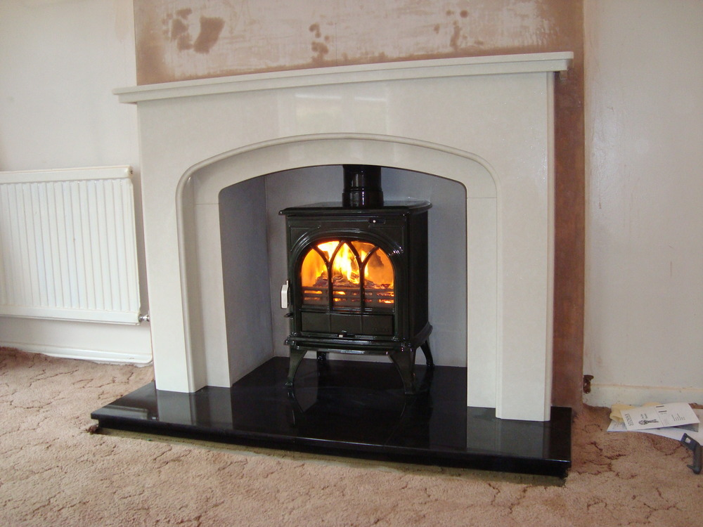 marble fire surrounds for wood burners photo - 5