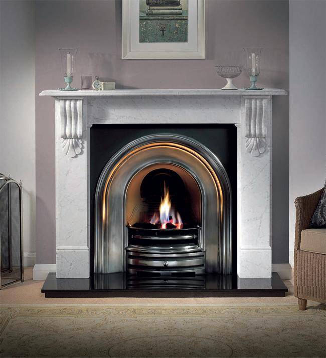 marble fireplace surround ideas photo - 1