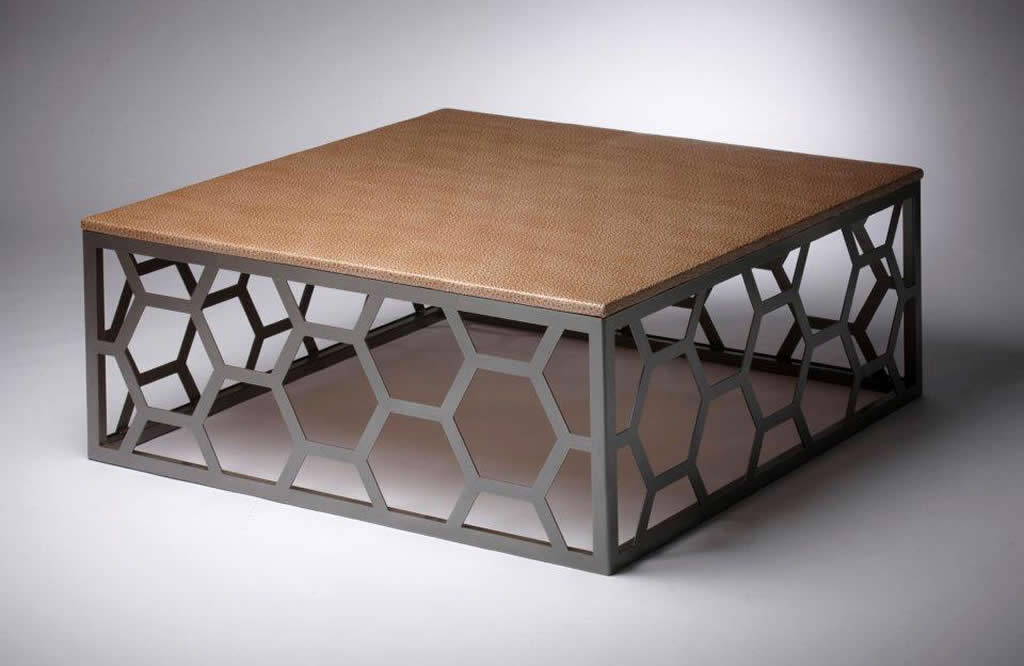 Metal coffee table design interior exterior doors for Table exterieur design aluminium