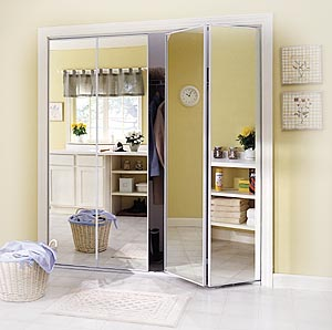 mirrored closet doors bifold photo - 2