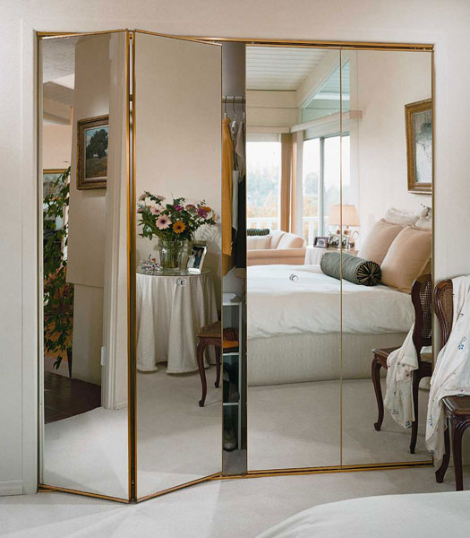 mirrored closet doors bifold photo - 4