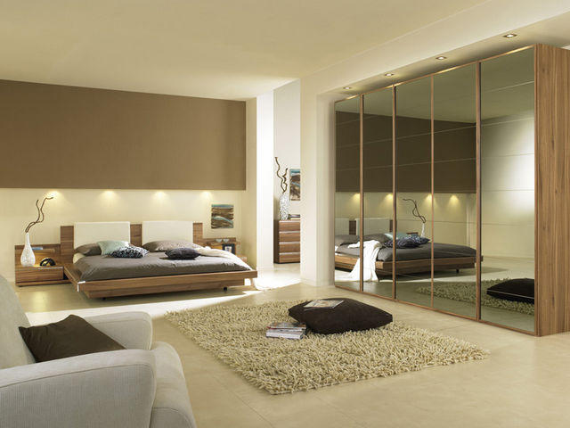 mirrored furniture bedroom designs photo - 2