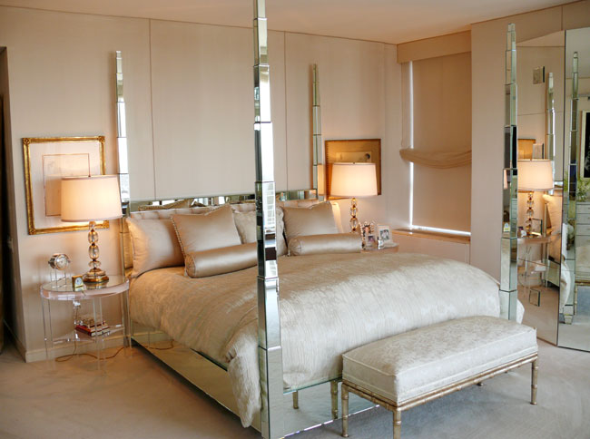 mirrored furniture bedroom designs photo - 6