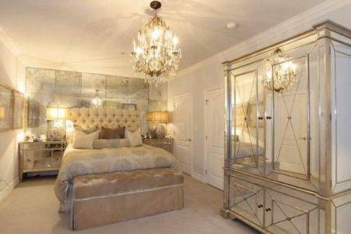 mirrored furniture bedroom set photo - 1