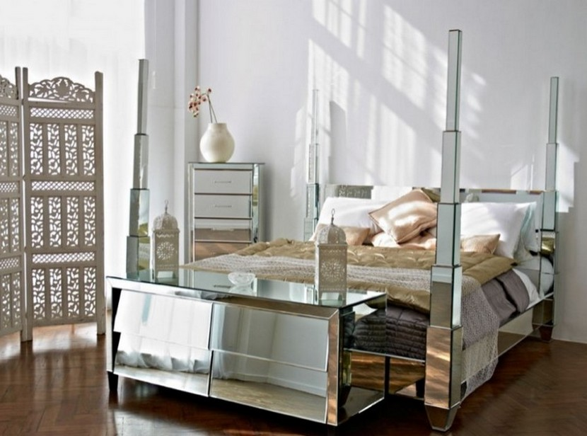 mirrored furniture bedroom set photo - 2