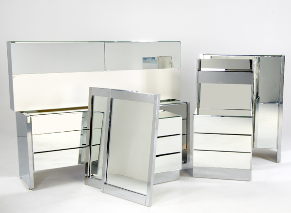 mirrored furniture bedroom set photo - 4