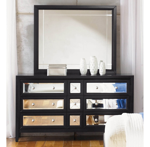 mirrored furniture bedroom set photo - 6