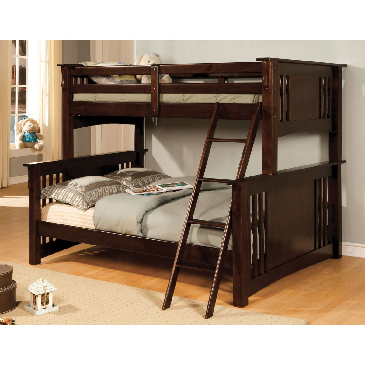 mission style bedroom furniture black photo - 6