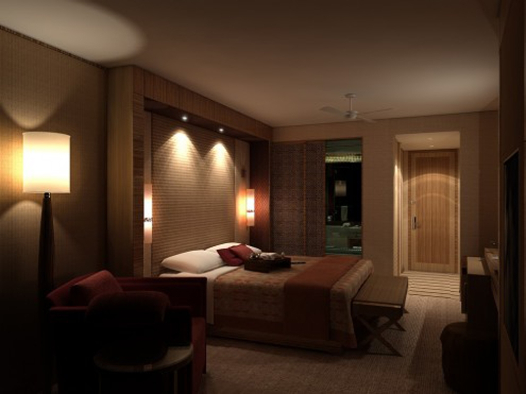 modern bedroom wall lighting photo - 2