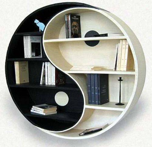 modern book cabinet design photo - 1