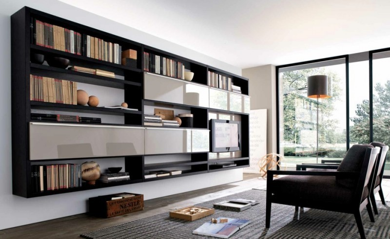modern book cabinet design photo - 6