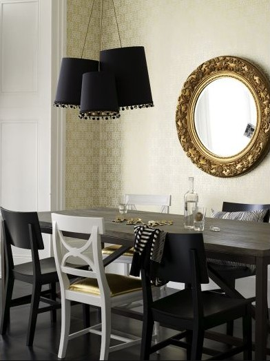 modern classic dining room chairs photo - 6