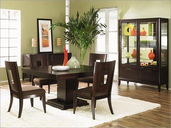 modern classic dining table photo - 2