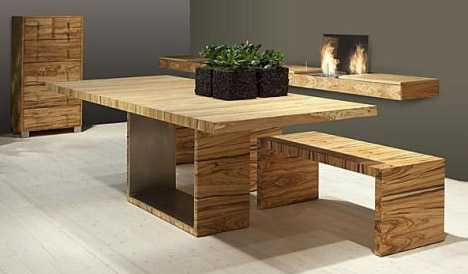 modern classic dining table photo - 3