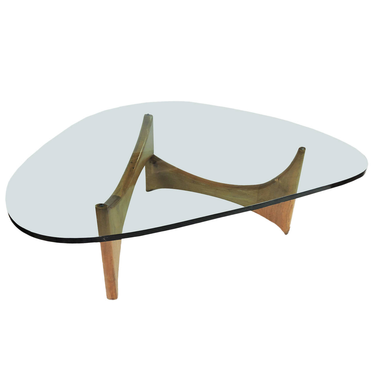 modern coffee table glass and wood photo - 4