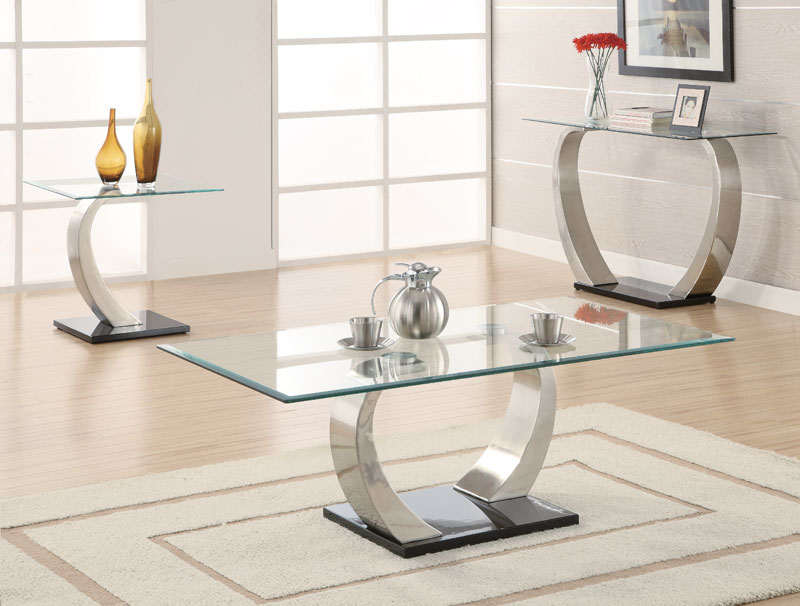 modern coffee tables glass top photo - 5