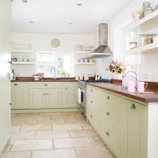 modern country cottage kitchen photo - 1
