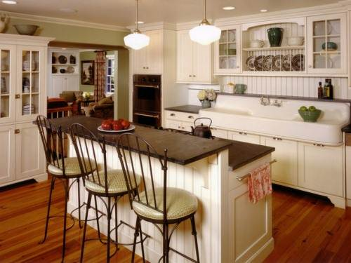 modern country cottage kitchen photo - 3