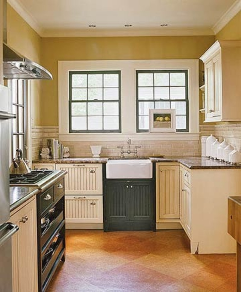 modern country cottage kitchen photo - 4