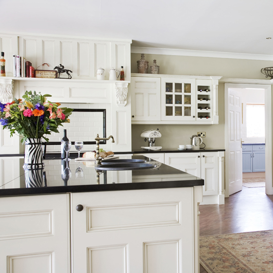 modern country kitchen cabinets photo - 1