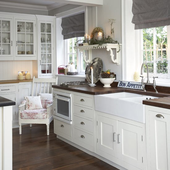 modern country kitchen cabinets photo - 3