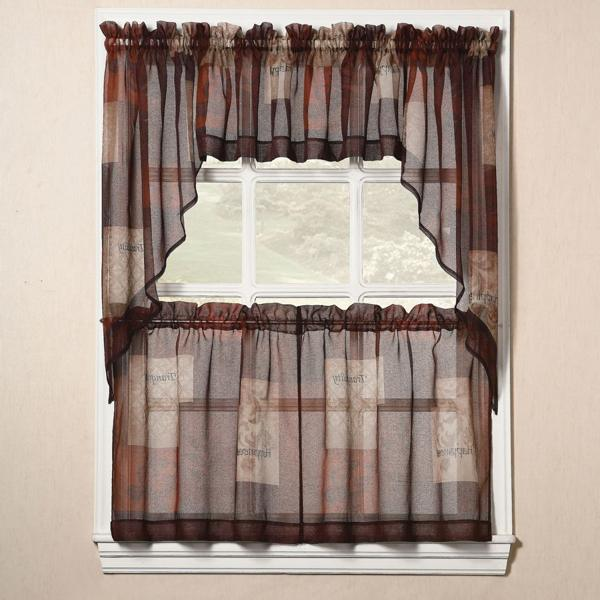 modern country kitchen curtains photo - 2