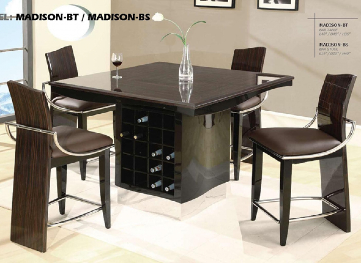 modern dining tables and chairs photo - 4