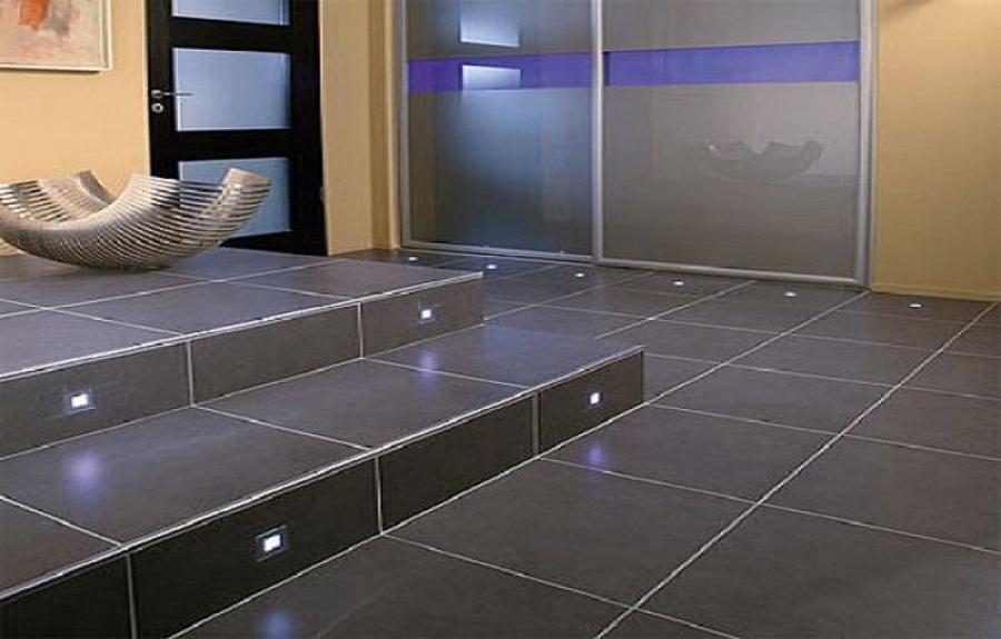 modern floor tiles bathroom photo - 1