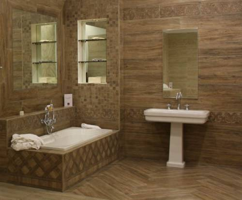 modern floor tiles bathroom photo - 3