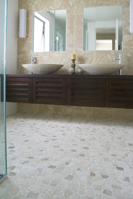modern floor tiles bathroom photo - 5