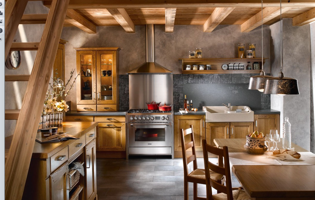 modern french country kitchen designs photo - 5
