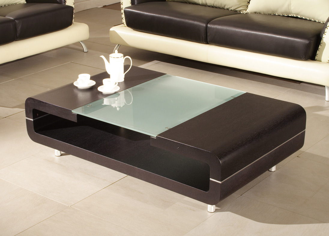 modern glass coffee table designs photo - 5