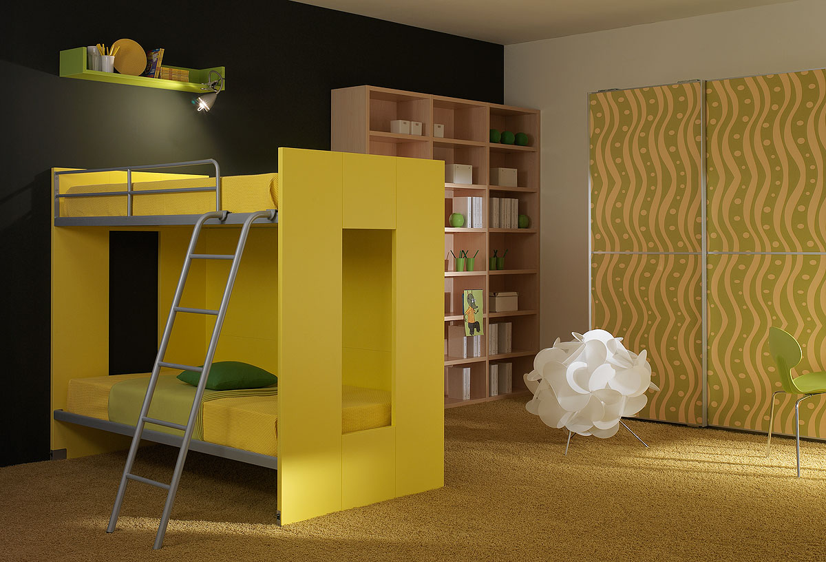 modern kids furniture bunk beds photo - 1