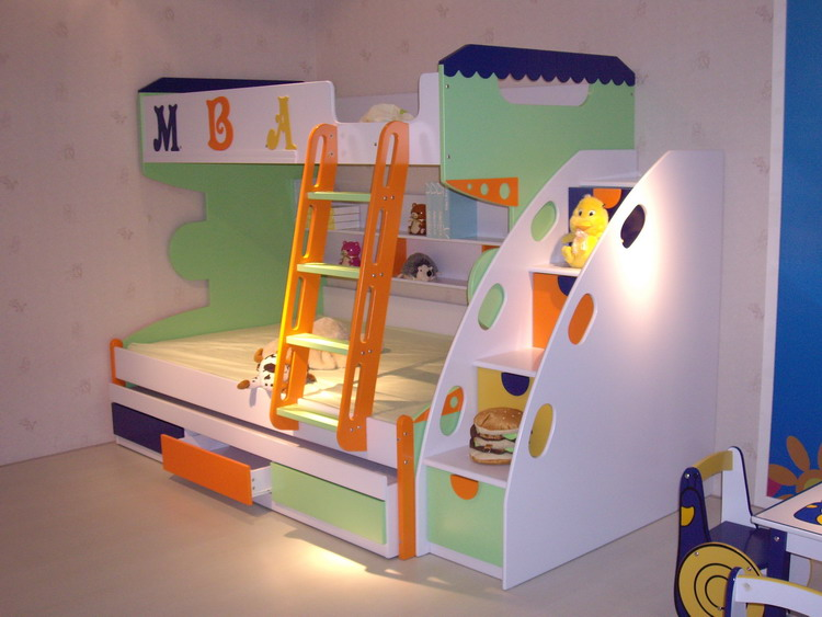 modern kids furniture bunk beds photo - 3