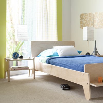 modern kids furniture twin bed photo - 3