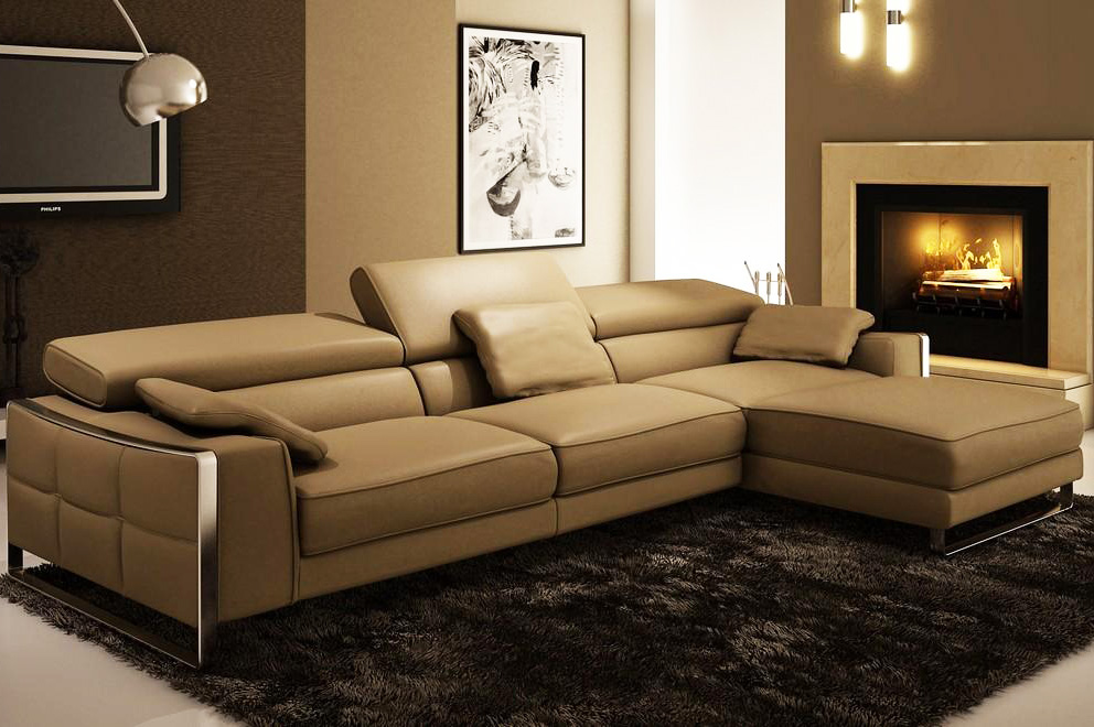 modern leather sectional sofas sale photo - 4