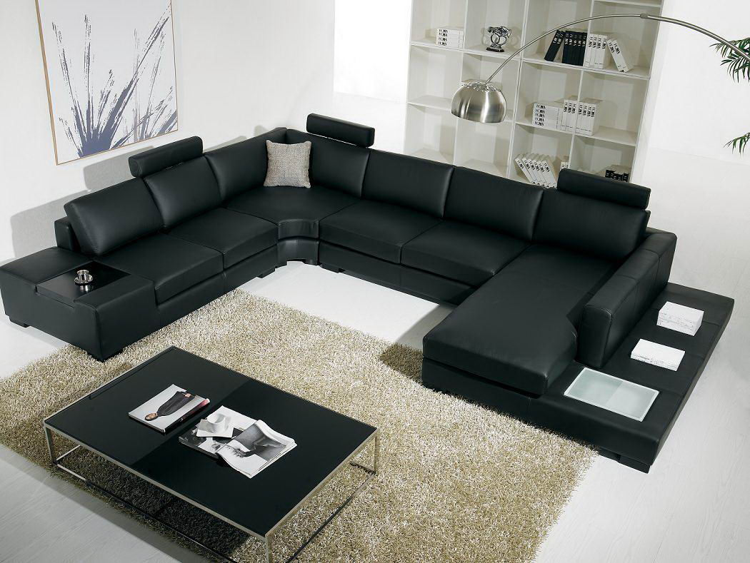 modern living room sectional sofas photo - 1