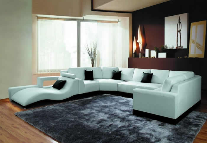 modern living room sectional sofas photo - 2