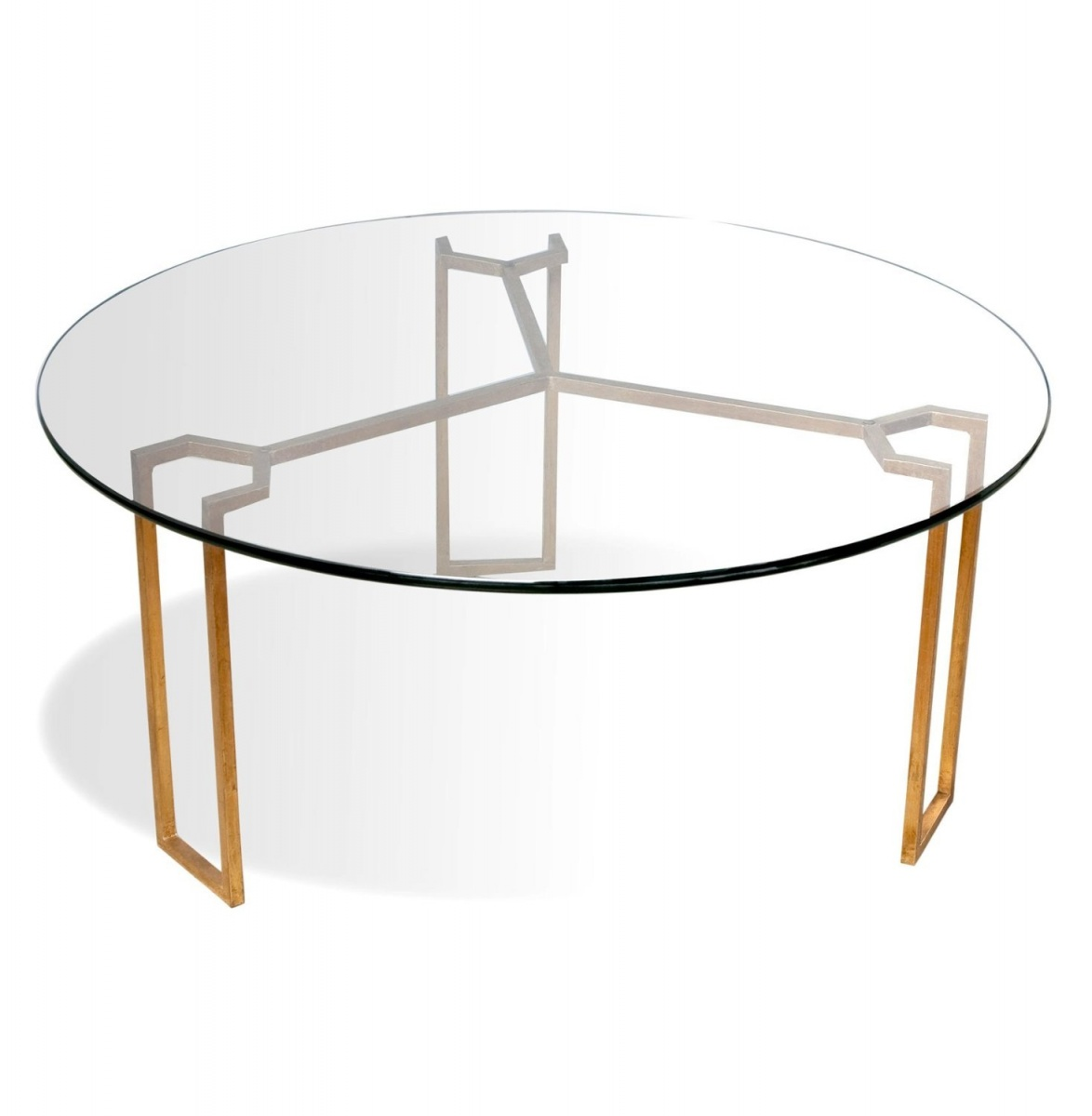 Modern round coffee table glass