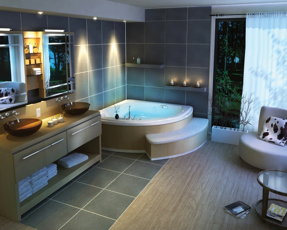 Modern Spa Bathroom Design Photo   4 Part 85