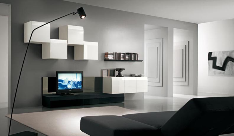 modern tv unit design ideas photo - 1