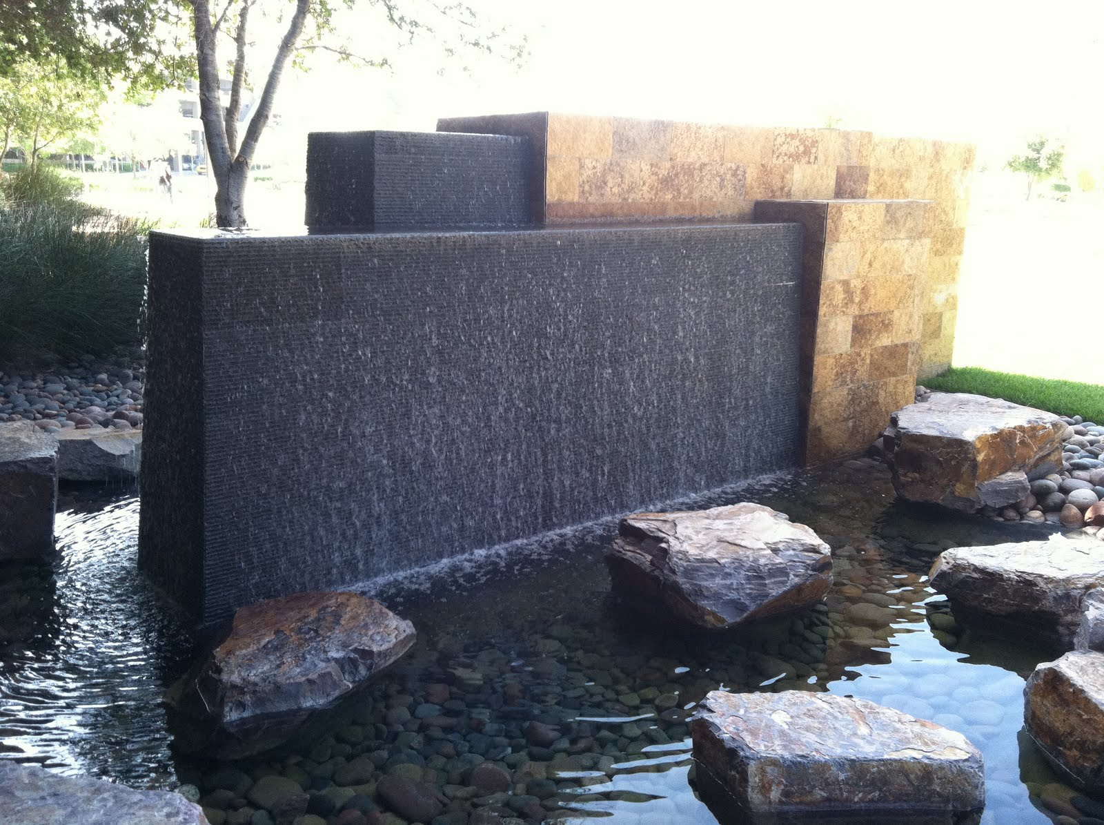 modern wall water fountains photo - 6