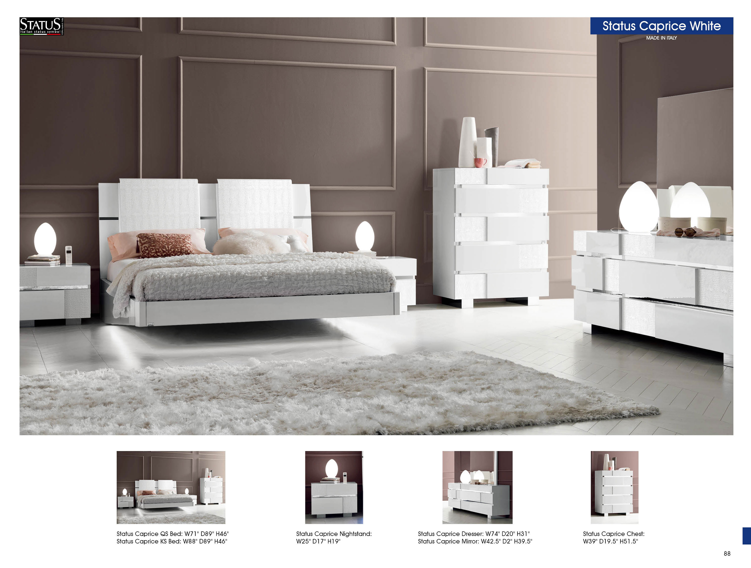 modern white bedroom furniture sets photo - 3