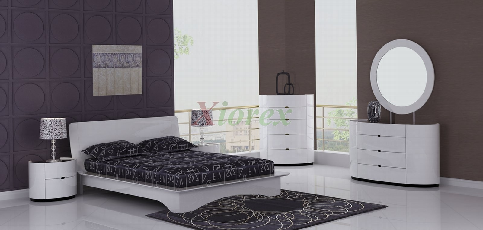 modern white bedroom furniture sets photo - 4
