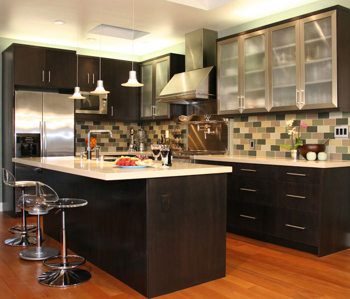 narrow u shaped kitchen designs photo - 1