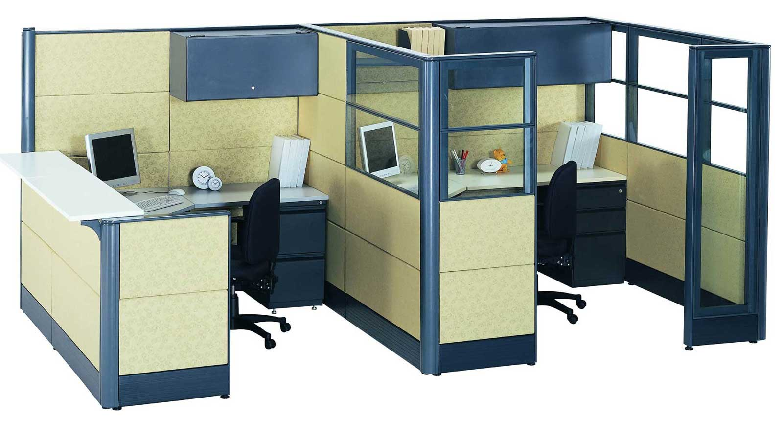 office cubicle glass walls photo - 3