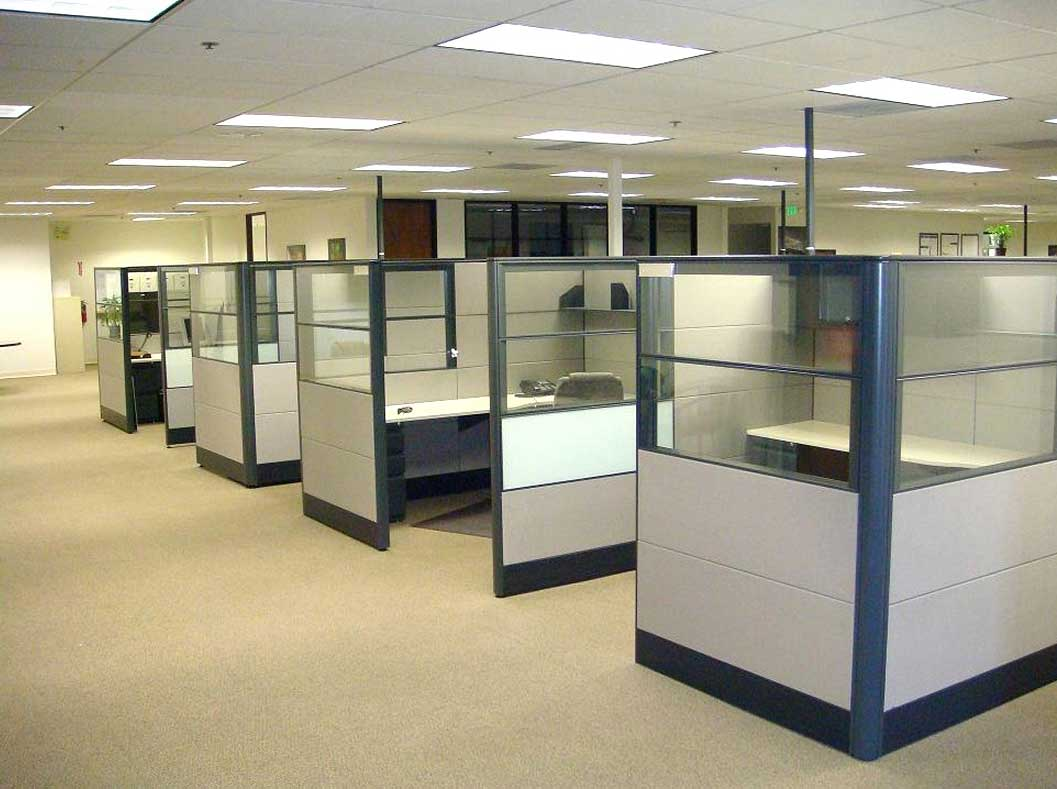 office cubicle glass walls photo - 4