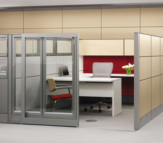 office cubicle glass walls photo - 5