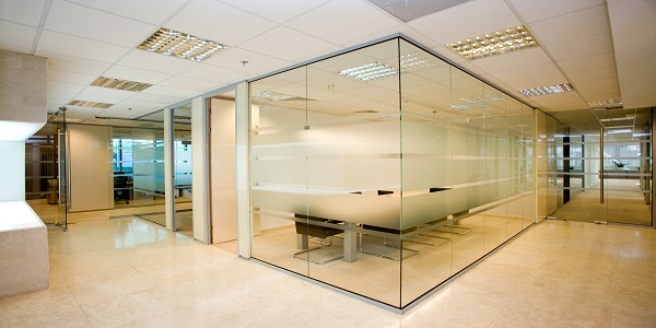office cubicle glass walls photo - 6